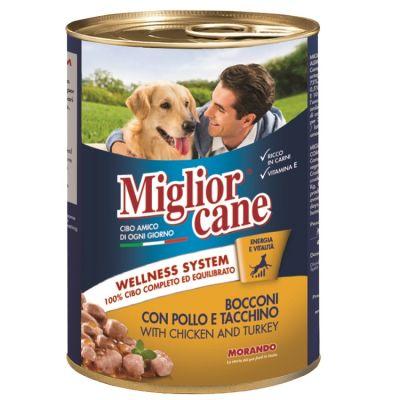 Miglior Gatto - Miglior Cane Tavuklu ve Hindili Katkısız Köpek Konserve Maması 405 Gr