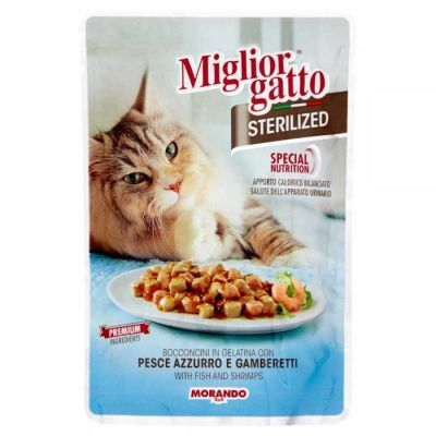 Miglior Gatto - Miglior Gatto Sterilized Balıklı Karidesli Kısır Kedi Konservesi 85 Gr
