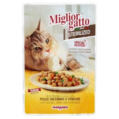Miglior Gatto - Miglior Gatto Sterilized Tavuklu Hindili Kısır Kedi Konservesi 85 Gr