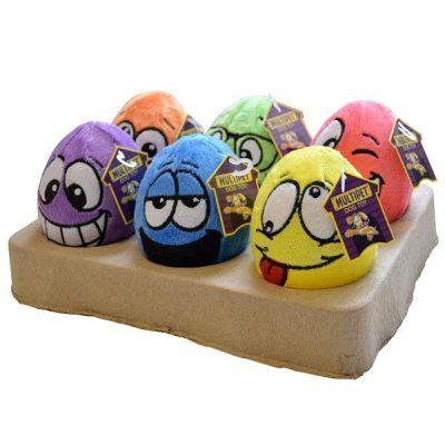 Multi Pet - Multipet Egg Noggins Peluş Yumurta Sesli Köpek Oyuncağı 11 cm