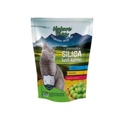 - Nature Plan Elmalı Silica Kedi Kumu 1,6 kg