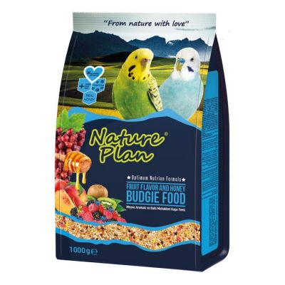 Nature Plan - Nature Plan Meyve Aromalı ve Ballı Muhabbet Kuşu Yemi 1000 g