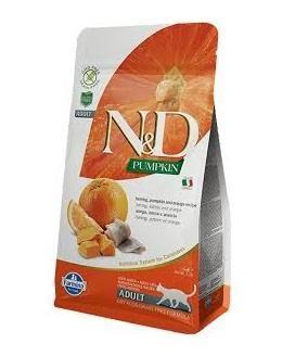 N&D - N&D Balkabaklı Ringa Balıklı Portakallı Kedi Maması 1.5 Kg