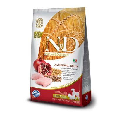 N&D - N&D Düşük Tahıl Light Mini-Orta Irk Tavuklu Yet Köpek Maması 2,5K