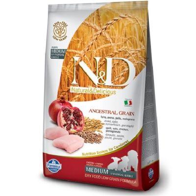 N&D - N&D Düşük Tahıllı Tavuklu Narlı Yavru Köpek Maması 2,5 Kg
