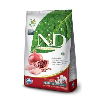 N&D - N&D Tahılsız Tavuk Etli Narlı Yetişkin Köpek Maması 12 KG
