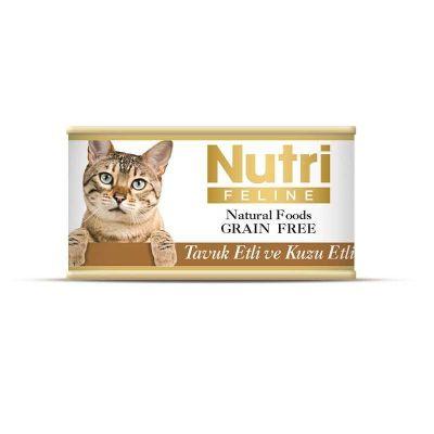 Nutri - Nutri Feline Tahılsız Tavuk Etli Kuzulu Kedi Konservesi 85 Gr