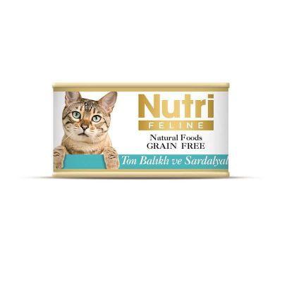 Nutri - Nutri Feline Tahılsız Ton Balık Sardalyalı Kedi Konservesi 85 Gr