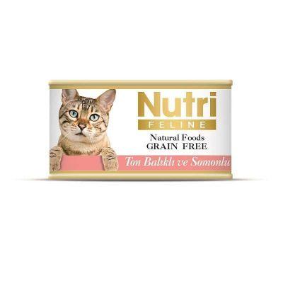 Nutri - Nutri Feline Tahılsız Ton Balıklı Somonlu Kedi Konservesi 85 Gr
