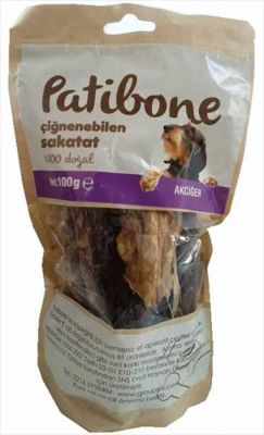 Diğer - Patibone Çiğnenebilen Akciğer Köpek Ödülü 100 GR