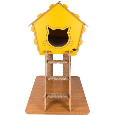 Diğer - Patihomes Merdivenli Tırmalamalı Kedi Evi 74x65x40 Cm