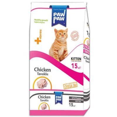 Paw paw - Paw Paw Kitten Tavuk Etli Yavru Kedi Maması 15 Kg