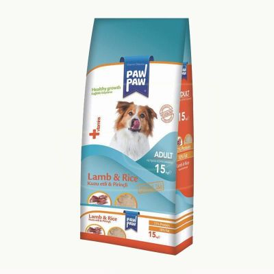 Paw paw - Paw Paw Kuzu Etli Ve Pirinçli Yetişkin Köpek Maması 15 kg