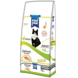 - Paw Paw Sterilised Somonlu Kısırlaştırılmış Kedi Maması 15 Kg