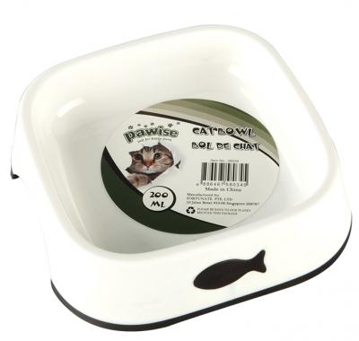 Pawise - Pawise Balık Desenli Plastik Kedi Mama Kabı