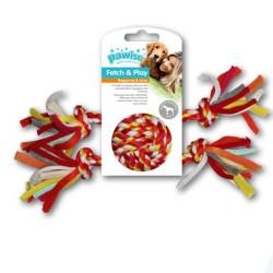 - Pawise Renkli Düğümlü 4 İpli Top Oyuncak 25 Cm