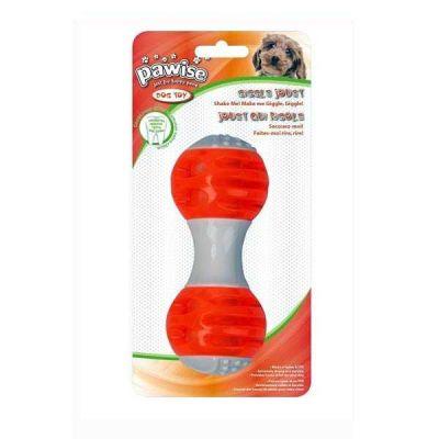 Pawise - Pawise Sesli Giggle Dumbell Köpek Oyuncağı 12 Cm