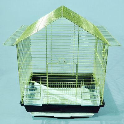QH PET CAGE - Pet Cage Dik Çatılı Kafes 34,5x28x45,5 cm
