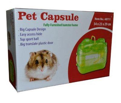 Diğer - Pet Kapsül Hamster Kafesi 34x23x29