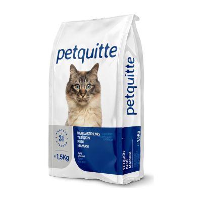 Petquitte - Petquitte Kısırlaştırılmış Yetişkin Kedi Maması 1,5 Kg
