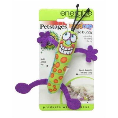 Petstages - Petstages Madcap Go Buddy Kediotlu Kedi Oyuncağı 17 cm