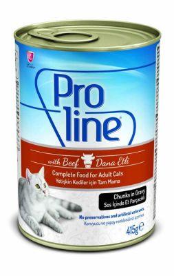 Proline - Proline Soslu Biftekli Kedi Konservesi 415 Gr