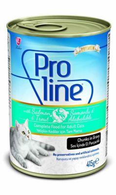 Proline - Proline Soslu Somon ve Alabalıklı Kedi Konservesi 415 Gr