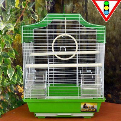 QH PET CAGE - Qh Pet Cage Pirinç Kaplama Kuş Kafesi 30 x 23 x 39 cm