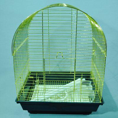 QH PET CAGE - Qh Pet Cage Pirinç Kaplama Kuş Kafesi 34.5 x 28 x 45.5 cm