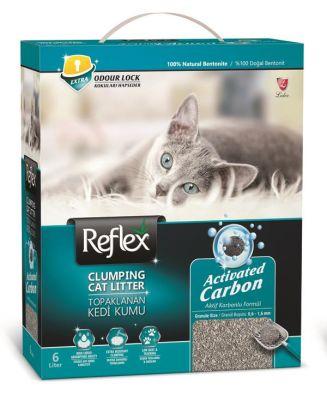- Reflex Aktif Karbonlu Topaklanan Kedi Kumu 6 LT