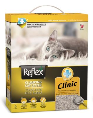 - Reflex Clinic Özel Tanecik Formüllü Topaklanan Kedi Kumu 6 LT