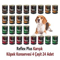 - Reflex Plus Karışık Köpek Konservesi 400 Gr x 24 Adet