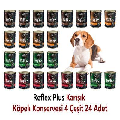 Reflex - Reflex Plus Karışık Köpek Konservesi 400 Gr x 24 Adet