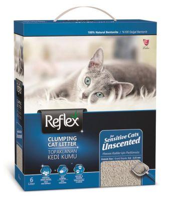 - Reflex Sensitive Hassas Kediler için Kokusuz Topaklanan Kedi Kumu 6 LT