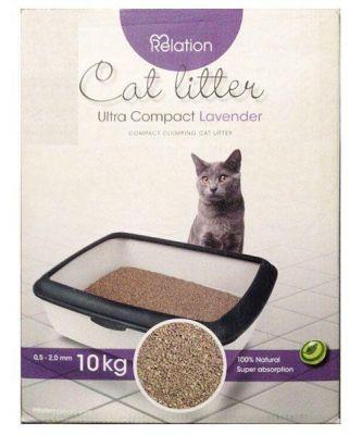 Diğer - Relation Ultra Compact Topaklanan Lavantalı Kedi Kumu 10 Kg
