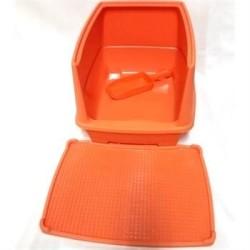 Diğer - Relax Paspaslı Yarı Kapalı Kedi Tuvaleti 44*32*30 cm