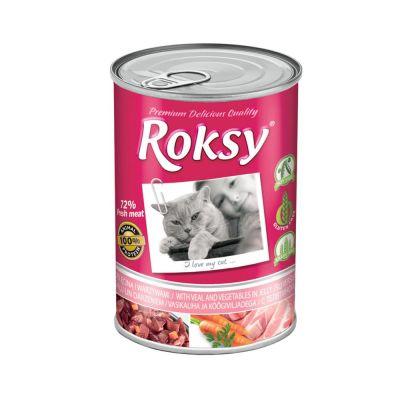 Diğer - Roksy Dana & Sebzeli Kedi Konservesi 415 Gr ( %72 Et Oranı )