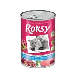 Diğer - Roksy Somonlu & Sebzeli Kedi Konservesi 415 Gr ( %72 Et Oranı )