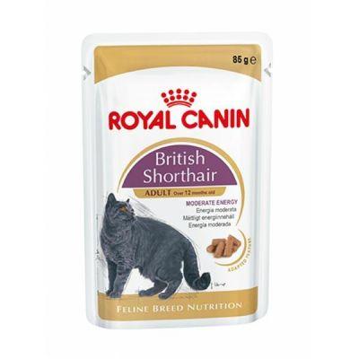 Royal Canin - Royal Canin British Shorthair Yetişkin Pouch Kedi Konservesi 85 Gr