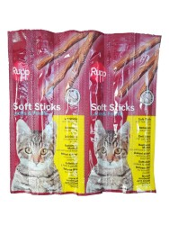 Diğer - Rupp Sticks Balıklı Kedi Ödül Çubukları 6'lı Paket