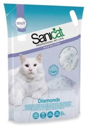 Sanicat - Sanıcat Dıamonds Silika Kedi Kumu 5 Lt.