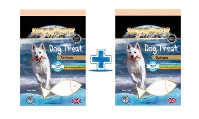 Sapphere - Sapphere Somon Balıklı Köpek Ödülü 70 Gr (1 Alana 1 Bedava)