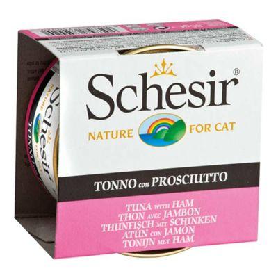 Schesir - Schesir Ton Balıklı ve Jambonlu Jöleli Kedi Konservesi 85 Gr