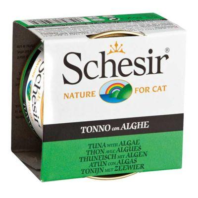 Schesir - Schesir Ton Balıklı ve Yosunlu Jöleli Kedi Konservesi 85 Gr