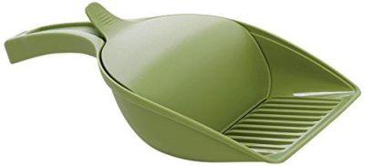 Stefanplast - Stefanplast Hazneli Büyük Kedi Kumu Küreği Yeşil