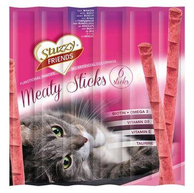 Stuzzy - Stuzzy Friends Sığır Etli Sticks Kedi Ödülü 6x5 Gr