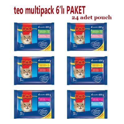 Diğer - Teo Kedi Pouch Multipack 6'lı Paket