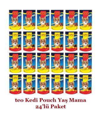 Diğer - Teo Pouch Kedi Konservesi 100 Gr 24'lü Paket