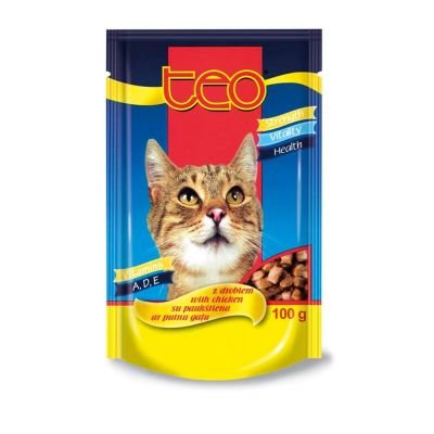 Diğer - Teo Pouch Tavuklu Kedi Konservesi 100 Gr