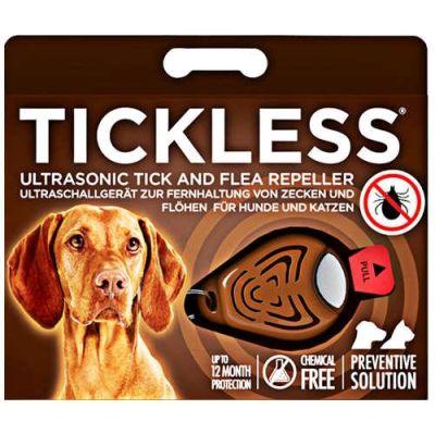 Tickless - Tickless Ultrasonic Pet Kedi ve Köpek Bit, Pire Uzaklaştırıcı Aparat (Kahverengi)